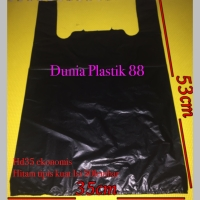 50lembar HD35 kantong plastik kresek HITAM tenteng tipis kuat EKONOMIS