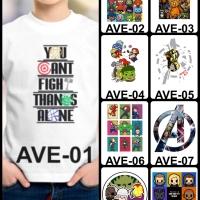 Kaos / Baju Anak Avengers 1-9 (Free Custom Nama)