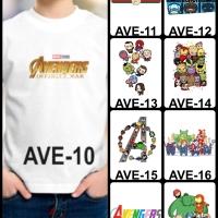 Kaos / Baju Anak Avengers 10-18 (Free Custom Nama)