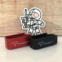 Taran tactical extended mag, plus 5. Red/merah