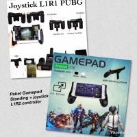 [Paket Lengkap gamers murah] Gamepad standing + joystick L1 R1 PUBG