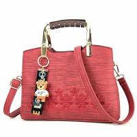 Tas kerja wanita, tersedia warna merah, coklat, abu tua