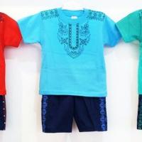 Grosir 0-2 (6bln-2th) Setelan baju lebaran muslim koko anak pendek L4