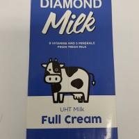 Susu Diamond UHT Full Cream Plain 1L