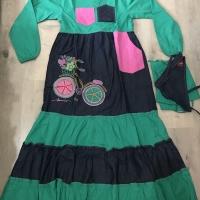 dannis baju muslim anak perempuan ukuran 8 untuk anak 8-9 tahun