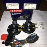 1 Set Klakson Disc FullPower Tone + Relay Set Original DENSO 12V