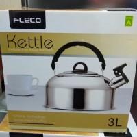 Whistling Kettle/ Teko Bunyi Siul Fleco 3 Liter Stainless St