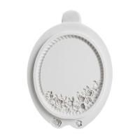 Silicone Mould Floral Oval Frame / cetakan silikon oval bunga bunga