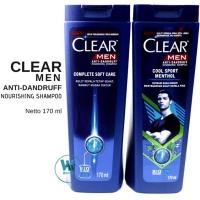 CLEAR MEN Anti Dandruff Shampoo / Shampo Anti Ketombe untuk Pria 170ml