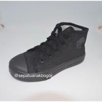 Sepatu Sekolah Anak Hitam NB BOOT Tali Untuk TK / SD NB1101