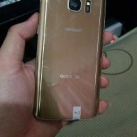 Samsung S7 flat normal minus garis halus line aja ori hp only gold