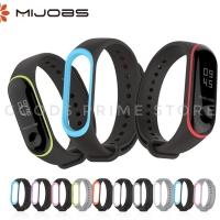 Mijobs Silicone / Silikon Strap Dual Color Xiaomi Mi Band 3 Original