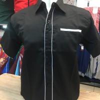 Harga kemeja seragam promosi polos kode kemeja polos ep 02 hitam lis | DEMO GRABTAG