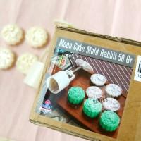 Cetakan Mooncake 50gr Rabbit/ cetakan kue bulan /mooncake mold 50gr