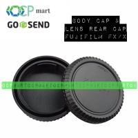 Body Cap & Lens Rear Cap Cover Fujifilm FX Fuji X Tutup Lensa X-A3 XA