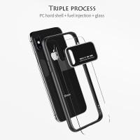 Case Iphone X Cristal Glass Premium| casing iphone X new model