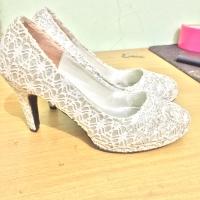 Jual Sepatu high heels second murah/preloved/heels wedding 9cm size 39 Murah