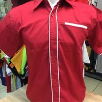 Harga kemeja seragam promosi polos kode kemeja polos ep 02 merah list | HARGALOKA.COM