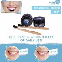 Denta Secret Charcoal Teeth Whitening Powder + Bonus Bamboo Toothbrush