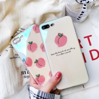 Blue-ray Case Peach iPhone 6 6s plus 7 7s plus 8 8plus X