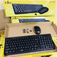Keyboard Wireless Mouse Banda W200 PAKET