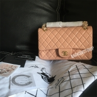 Tas CHANEL Classic Lamb 25cm Peach GHW Mirror 1 1 Ori leather VIP 2fdaf87d82