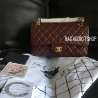 Tas CHANEL Classic Lamb 25cm Burgundy GHW Mirror 1 1 Ori leather VIP fd348c3ace