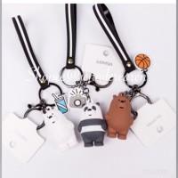 Miniso We bare bears strap Keychain gantungan kunci tas boneka