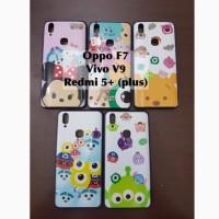 Softcase case disney tsum tsum Oppo F7 Vivo V9 Redmi 5 plus