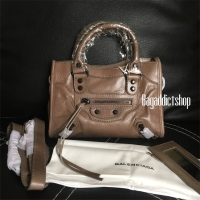 Tas BALENCIAGA black stud mini Taupe Mirror 1 1 Ori leather VIP ecc8409b61