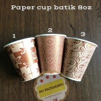 Paper Cup Gelas Kopi 8oz - Batik (TANPA TUTUP) isi 50pcs/pack