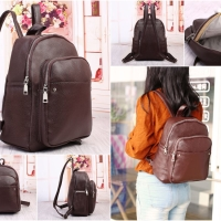 Harga tas backpack ransel dark camel coklat woody wanita hush puppies | WIKIPRICE INDONESIA