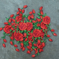 Vans Embroidery Rose Bunga Patch / Patches / Emblem