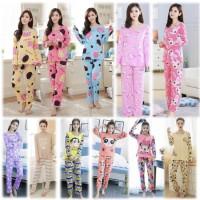 piyama panjang dewasa piama murah pajamas baju tidur karakter kartun