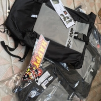 Tas Punggung Backpack khusus touring merk GIVI Italy black grey 15LT02