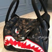 Bape Monster Lindy Army Bag (Black Stripe) Tas Selempang