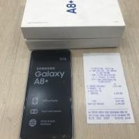 Samsung a8 plus grey garansi resmi sein mulus bandung