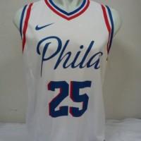 1b9e80444685 Jersey Basket Printing Philadelphia Sixers 76ers Ben Simmons  25 Putih