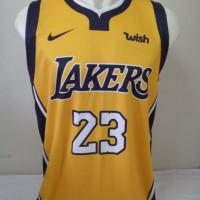 aa6138885ebd Jersey Basket Printing Los Angeles Lakers LeBron James  23 Kuning