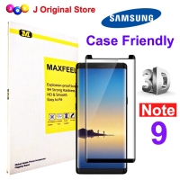 MAXFEEL Tempered Glass 3D Samsung Note 9 Note 9 Case Friendly
