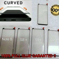 Note 8 Samsung CURVE FULL GLUE Tempered Glass Anti Gores Kaca Note8 Hp