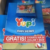 Yupi Baby Bears 1 Pak Box Dus 24 Pcs Bear Biru Grosir Permen Murah