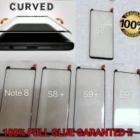 S9 Samsung CURVE FULL GLUE ORIGINAL Tempered Glass Anti Gores Kaca Hp