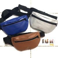 PAPAO LEATHER WAIST BAG / TAS PINGGANG / TAS BAHU /WAISTBAG BY SAKOOBI