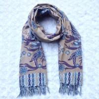 syal batik motif kupu angsa