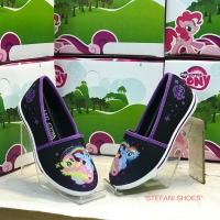 Sepatu Slip On Anak Wanita Karakter My Little Pony Warna Hitam Ungu