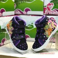 Sepatu Boots Anak Wanita Karakter My Little Pony Warna Hitam Ungu
