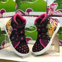 Sepatu Boots Anak Wanita Karakter My Little Pony Warna Hitam Pink