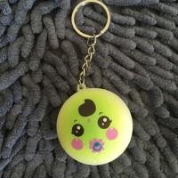 Gantungan keychain squishy green small