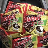 Better 1 Renceng 10 Sachet Pcs 22g 22gr 22 g gr Coklat Biskuit Dus